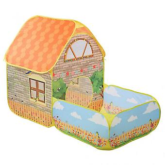 House And Garden Shape Kids Playing Tents And Tunnels