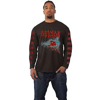 Deicide T Shirt Once Upon The Cross Band Logo Official Mens Black Long Sleeve