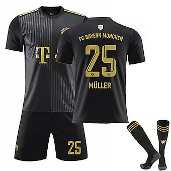 Thomas Muller #25 Jersey 2021-2022 Ny säsong FC Bayern München Fotboll T-Shirts Jersey Set för barn ungdomar