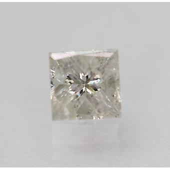 Certifié 0.46 Carat G SI3 Princess Enhanced Natural Loose Diamond 4.4x4.36mm