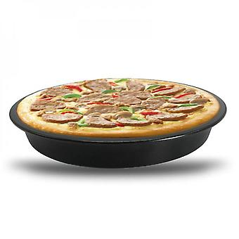 Non-stick Pizza Tray Carbon Steel Round Oven Plate Pan Baking Tool Kitchen