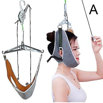 Kit de tração do pescoço pendurado ajustável dispositivo de tração cervical maca de correção do pescoço