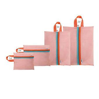 4pcs Fashion Travel Grid Sacs de rangement pliables