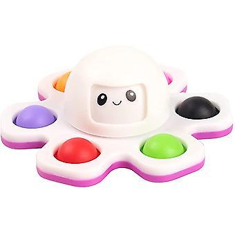 Игрушки для ручного вращения, простая игрушка осьминога для изменения лица