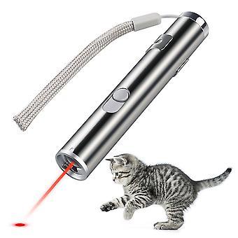 USB uppladdningsbara husdjur leksaker Katt träning laserpekare med led ficklampa