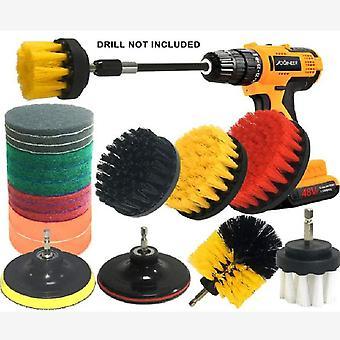 Elektrische boorborstel set van 20 elektrische reiniging borstel schuurspons set vloer en muur schoonmaken borstel elektrische boorborstel set