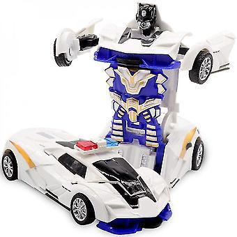Zwei-in-Eins-Verformung Roboter Kit 12-13cm Einstufige Verformung Spielzeug Auto Modell Kinder Spielzeug Geburtstag Geschenk-d