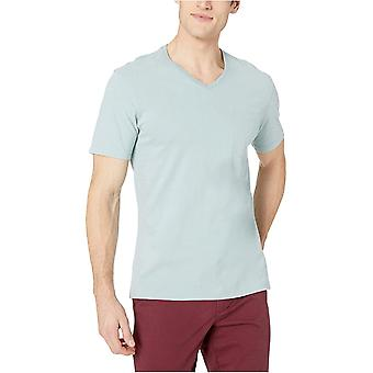 Goodthreads Men's Short-Sleeve Sueded Jersey V-Neck Pocket T-Shirt, White, Large
