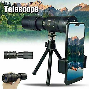 (Monocular+Tripod+Clip Set) 4K 10-300X40mm Super Telephoto Zoom Monocular Telescope with BAK4 Prism