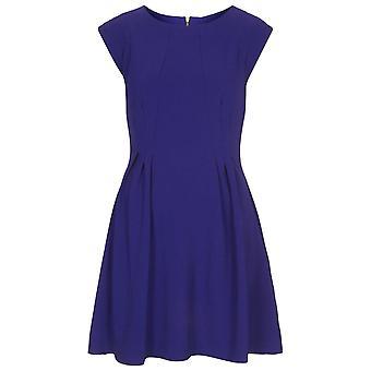 Topshop blå regelbundna Crepe söm Flippy klänning