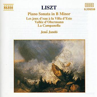 F. Liszt - Liszt: Piano Sonata in B Minor; Les Jeux D'Eau; Vall E D'Obermann; La Campanella [CD] USA import
