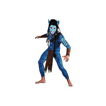 Warrior costume of blue jungle Warrior costume men