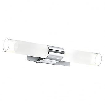 Eglo Kio 2 Light Modern Wall Light Mirror Light Chrome Finish