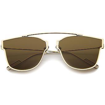 Moderne Fashion Ultra dunne Open metalen minimalistische Pantos Aviator zonnebril 55mm
