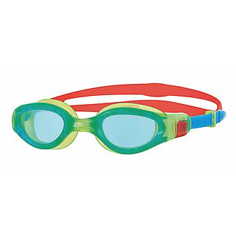Zoggs Phantom Elite Junior Swim Goggle - Tinted Lens - Green/Red/Blue