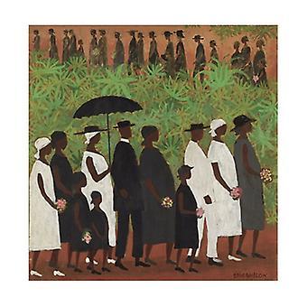 Beerdigung Prozession Poster Print von Ellis Wilson (27 x 30)