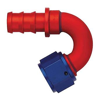 Aeroquip FCM1552 Red and Blue Anodized Aluminum -06AN 120-Degree Socketless Hose Fitting