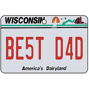 Wisconsin - mejor papá placa ambientador