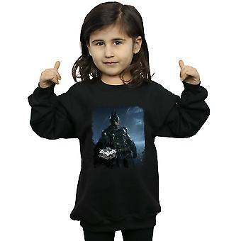 DC Comics Girls Batman Arkham Knight Poster Distressed Sweatshirt