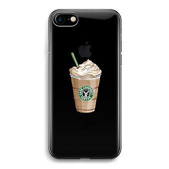 iPhone 7 transparant Case (Soft) - maar de eerste koffie