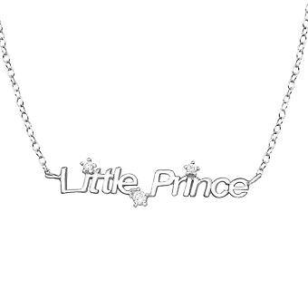 """Lille prinsen"" - 925 Sterling Silver Jewelled halsband - W33898x"