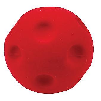 Rubbabu ソフトぬいぐるみクレーター ボール (赤) 感覚のグニャグニャした赤ちゃん幼児乳児グッズ