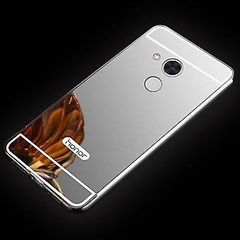 Spejle / Mirror aluminium kofanger 2 stykker med cover sølv for Huawei honor 6A taske dækning