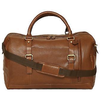 Felda lederen Holdall Duffel tas - Cabin handbagage - met voorvak