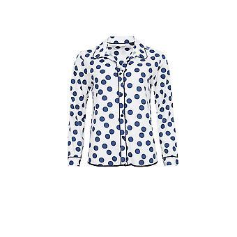 Cyberjammies 3842 vrouwen Zoe-wit gevlekte Pajama pyjama's Top