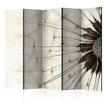 5-teiliges Paravent - White Dandelion II [Room Dividers]