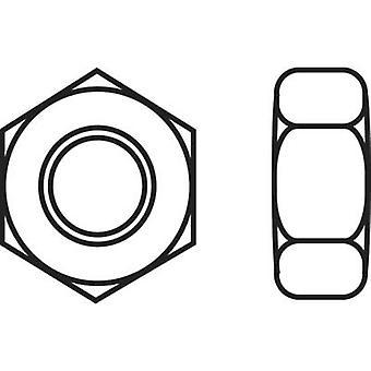 TOOLCRAFT 888119 Hexagonal écrous M4 DIN 934 inox A2 10 PC (s)