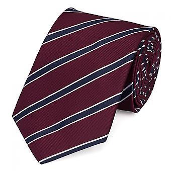 Krawat krawat krawat krawat 8cm czerwony niebieski Fabio Farini biały paski