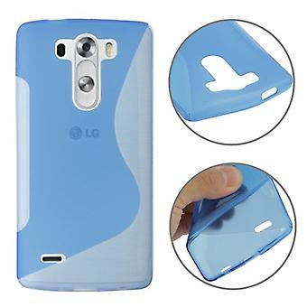 保護ケース TPU ケース モバイル LG G3 ミニ ブルーのカバー