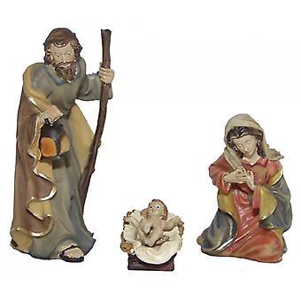 3-piece Nativity figurines. Set polyresin Nativity scene figures paradise of 11 cm set of 3