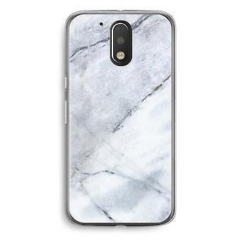 Motorola Moto G4/G4 Plus Transparent fodral (Soft) - marmor vit
