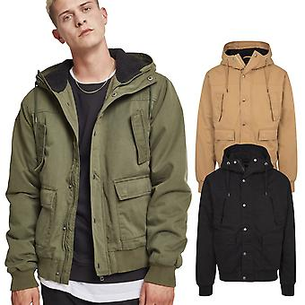 Urban classics - hooded cotton Sherpa winter jacket