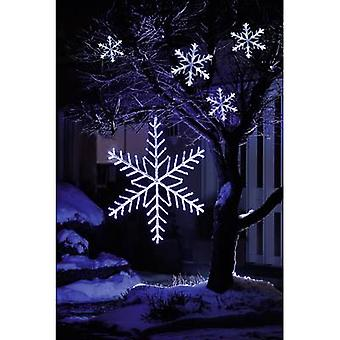 Konstsmide Curtain light (snow flakes) Outside 24 V EEC: LED (A++ - E) 60 LED Cold white (L x W x H) 14 m x 400 cm x 30 cm