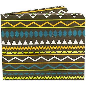 Бумага бумажник ацтеков тонкий бумажник - коричневый/зеленый/желтый