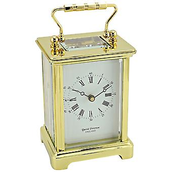 David Peterson Obis 8 Day Mechanical Carriage Clock - Gold