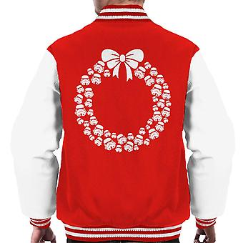 Original Stormtrooper Helmet Christmas Wreath Men's Varsity Jacket