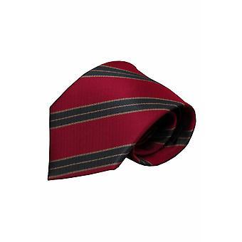 Rode zijden stropdas Dura 01