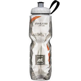 Polar botella deporte aislado 24 oz botella de agua - fibra de carbono/naranja