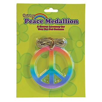Rainbow Peace Medallion.