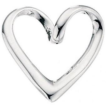 Początki wisiorek serce Loopy - srebrny