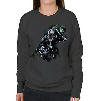 Marvel Black Panther Roaring Silhouette Women's Sweatshirt