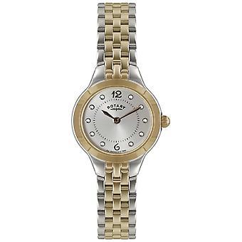 Rotative Ladies' deux tons avec Pierre Set LB02762/59 montre