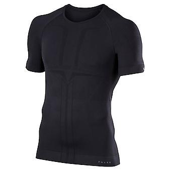 Falke-Warm-Impuls-Kurzarm-Shirt - schwarz