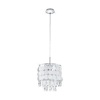 Eglo - Fedra 2 singola luce soffitto ciondolo In cristallo e perla finitura EG93092