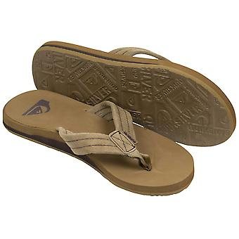 Quiksilver Herren Carver Wildleder lässig Strandsandalen - Light Brown/Black