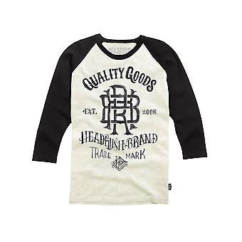 Headrush Mens HR Quality Goods 3/4 Sleeve Shirt -Oatmeal White/Gray